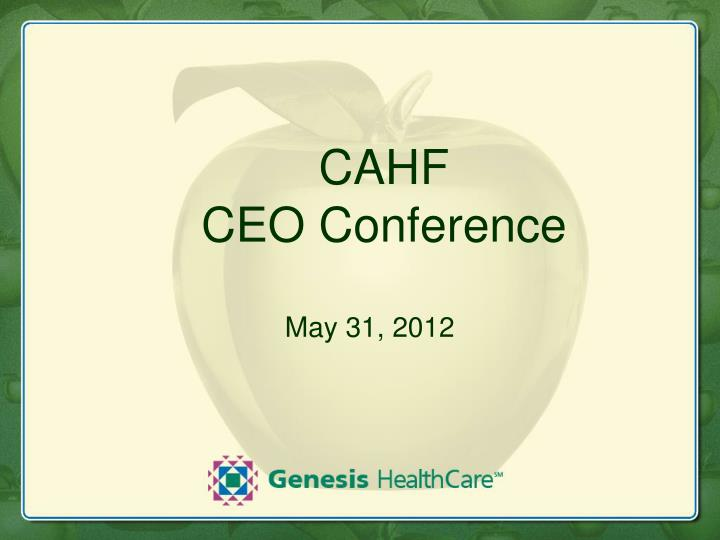 cahf ceo conference n.