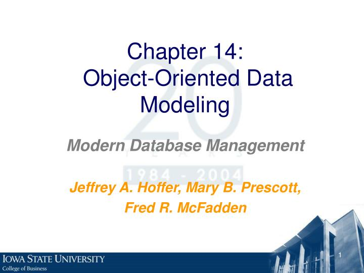 chapter 14 object oriented data modeling n.