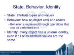 state behavior identity