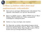 4 kina og indien rykker frem med multinationale virksomheder