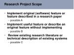 research project scope