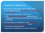 scientific objective