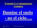 evitando la contaminacion luminica