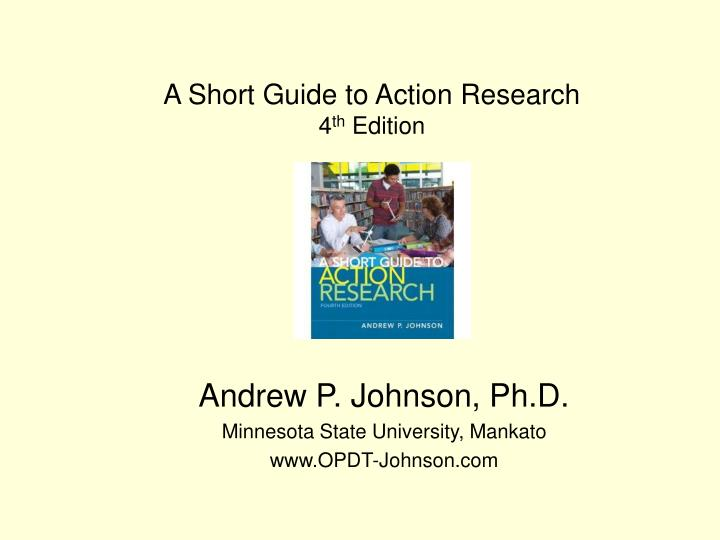 a short guide to action research 4 th edition n.