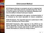 enforcement method