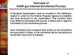 overview of asap gov internet enrollment process
