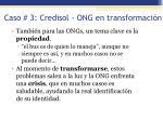 caso 3 credisol ong en transformaci n