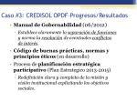 caso 3 credisol opdf progresos resultados