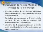 conservaci n de nuestra misi n en el proceso de transformaci n1