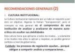 recomendaciones generales 2