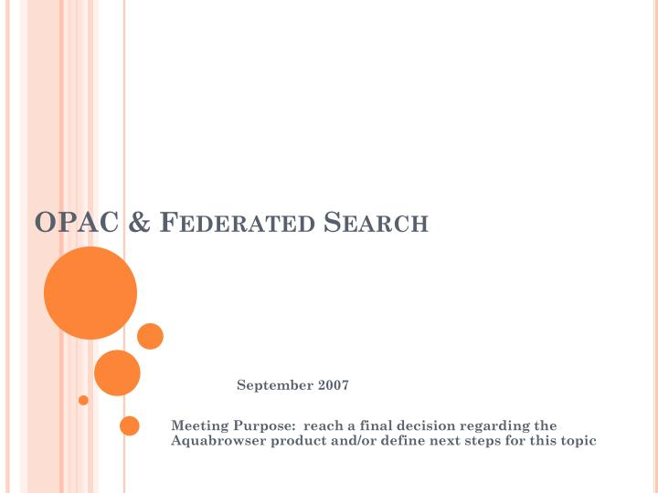 opac federated search n.