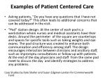 examples of patient centered care