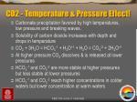 co2 temperature pressure effect