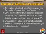 controls on carbonate accumulation