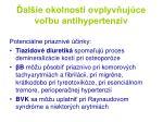 al ie okolnosti ovplyv uj ce vo bu antihypertenz v