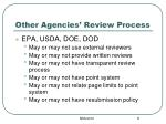 other agencies review process