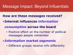 message impact beyond influentials