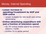 money internet spending
