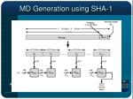 md generation using sha 1