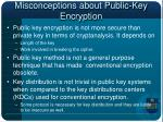 misconceptions about public key encryption