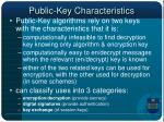 public key characteristics
