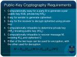 public key cryptography requirements