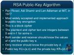 rsa public key algorithm
