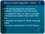 secure hash algorithm sha 1