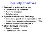 security primitives