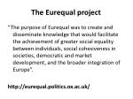 the eurequal project