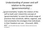 understanding of power and self relation to the power governmentality