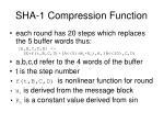 sha 1 compression function