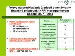 v zvy na predkladanie iadost o nen vratn finan n pr spevok nfp v programovom obdob 2007 2013