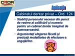 cabinetul dentar privat ord 12420