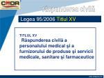 legea 95 2006 titlul xv