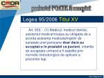 legea 95 2006 titlul xv11