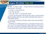 legea 95 2006 titlul xv13