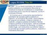 legea 95 2006 titlul xv19