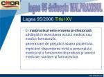 legea 95 2006 titlul xv2