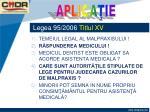 legea 95 2006 titlul xv21