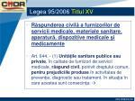 legea 95 2006 titlul xv6