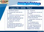 legea 95 2006 titluri