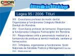 legea 95 2006 titluri1
