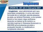 ordin nr 261 din 6 februarie 20073