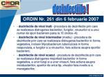 ordin nr 261 din 6 februarie 20078