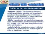 ordin nr 261 din 6 februarie 20079