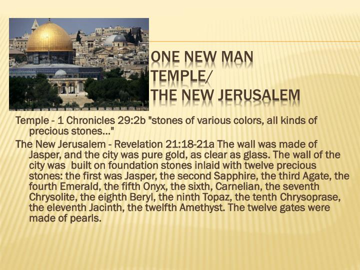 one new man temple the new jerusalem n.