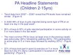 pa headline statements children 2 15yrs1