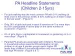 pa headline statements children 2 15yrs2