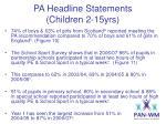 pa headline statements children 2 15yrs5